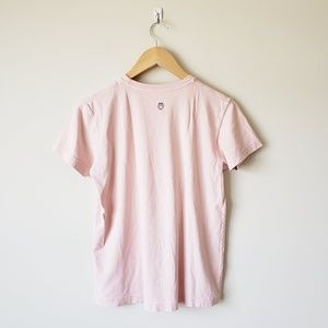 Life Is Good Tops - Life is Good Baby Pink Kiss Me Graphic Tee